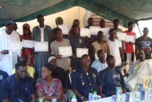 Remise des certificats à Thiès en juin 2016